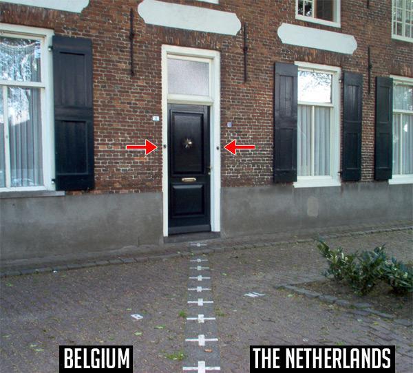Un tagad mazliet humoram... Autors: pofig Interesantākās starpvalstu robežas pasaulē