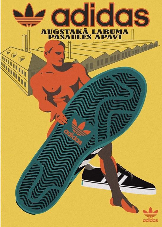 Autors: Fosilija Pazīstamu zīmolu plakāti. 1930. gadu Latvijas laika stilā