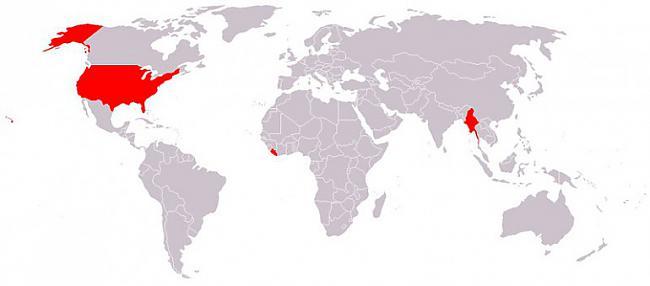 Valstis kuras nelieto metrisko... Autors: Sulīgais Mandarīns 7 pasaules kartes, kas iespējams padarīs tevi gudrāku