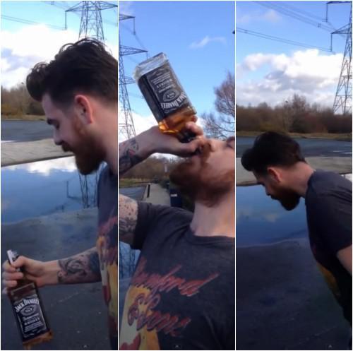 Autors: Fosilija Vīrietis 13 sekundēs izdzer 0.7l Jack Daniel