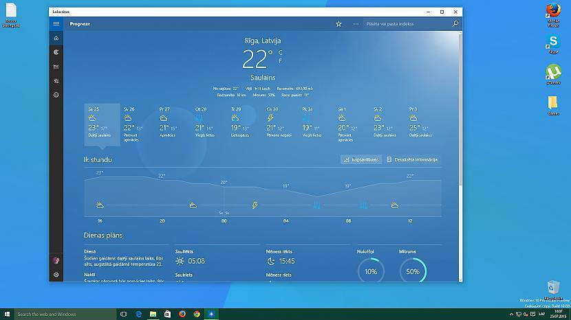 Laikaziņu aplikācija Autors: jamesonz Par Windows 10