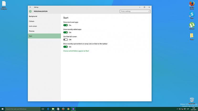 Sākuma izvēlnes iestatījumi Autors: jamesonz Par Windows 10