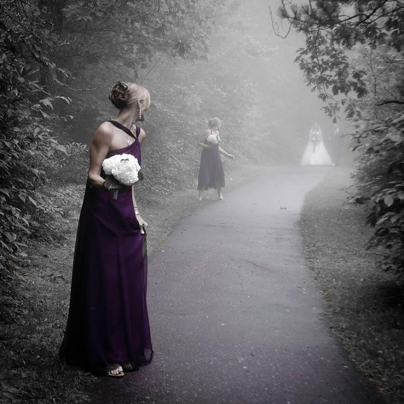 Biedējoša kāzu bilde Autors: Fosilija Gluži kā filmās...šausmu