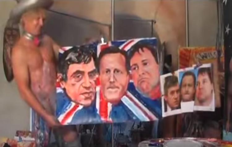 Jā jā tas ir gleznots ar... Autors: kaķūns Čalis ar savu locekli glezno apbrīnojamus portretus !