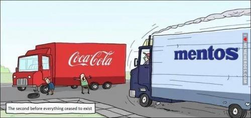 Autors: razor25 Coca cola un mentos
