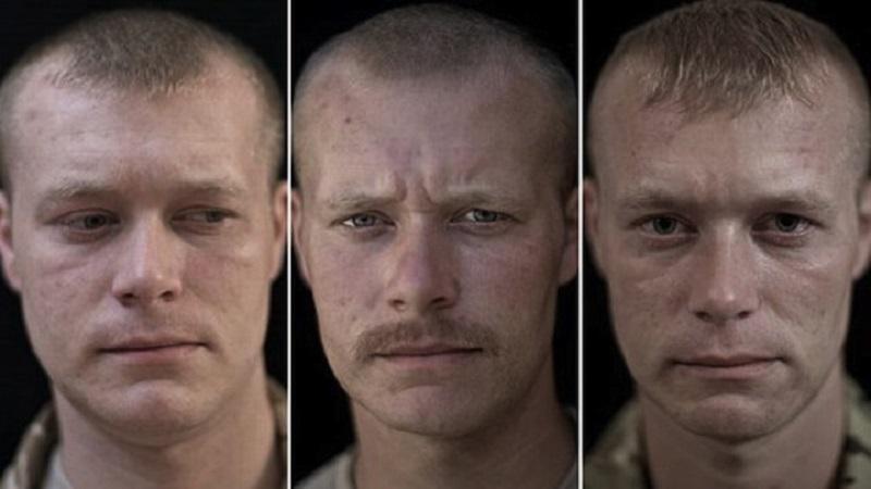 Snovas foto projekts ar... Autors: matilde 12 karavīri tika nofotografēti pirms misijas, misijas laikā un pēc tās!