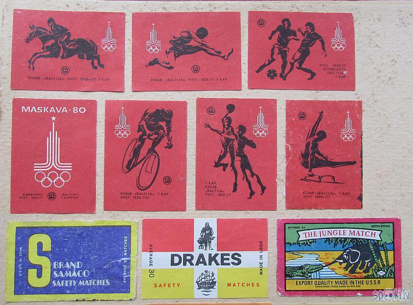 Sērkociņu etiķetes veltītas... Autors: pyrathe Bērnības dienu kolekcija: etiķetes no sērkociņu kastītēm (1.daļa)