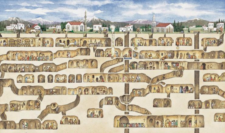 nbspPagaidām arheologi ir... Autors: Fosilija Vīrietis netīšām atklāj 3000 gadu vecu pazemes pilsētu