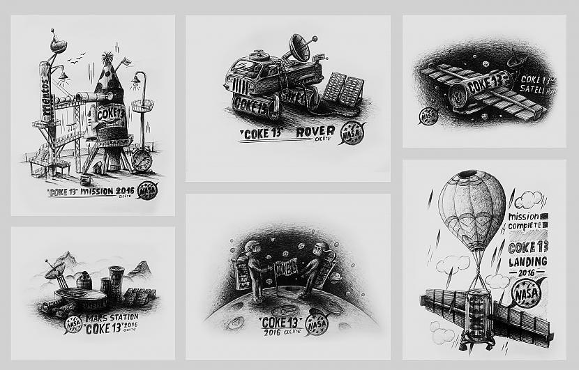 "Autors: Aciite Manas ""Coke 13"" skices."