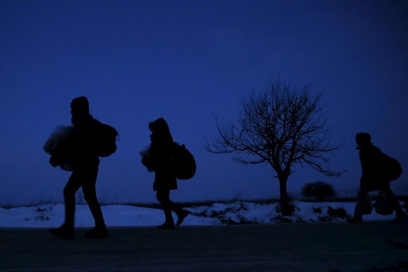nbspCīņa par dzīvību Autors: Heroīns14 Bēgļu straumes bargajā Balkānu ziemā.