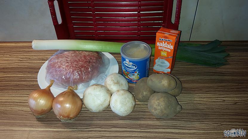 Gandrīz viss izmantojamo... Autors: minckis Kartupeļu kotletes ar gaļas pildījumu un šampinjonu mērci