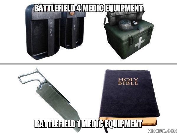 Autors: Fosilija Battlefield 4 un Battlefield 1 medkiti.