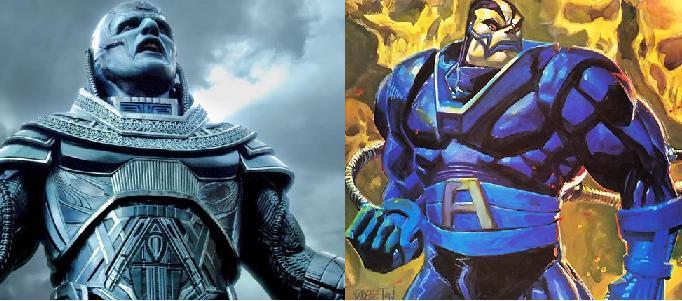 ApocalypseScaronis... Autors: Agresīvais hakeris 5 supervaroņi, kuru izskats filmās krasi atšķiras no komiksiem! (1. daļa)