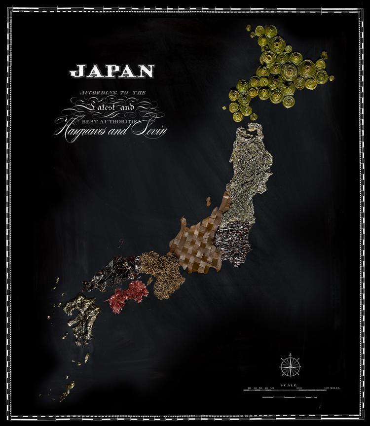 Japāna  Jūras zāles Autors: Sarius Viņi pārvērta ikoniskus ēdienus valstu un kontinentu kartēs.