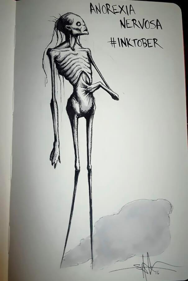 Anoreksija Psihiskie... Autors: nanitinja Psihiskie traucējumi un slimības attēlos