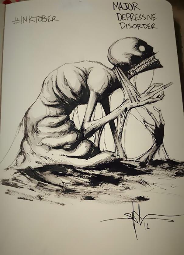 Klīniskā depresijanbsp... Autors: nanitinja Psihiskie traucējumi un slimības attēlos