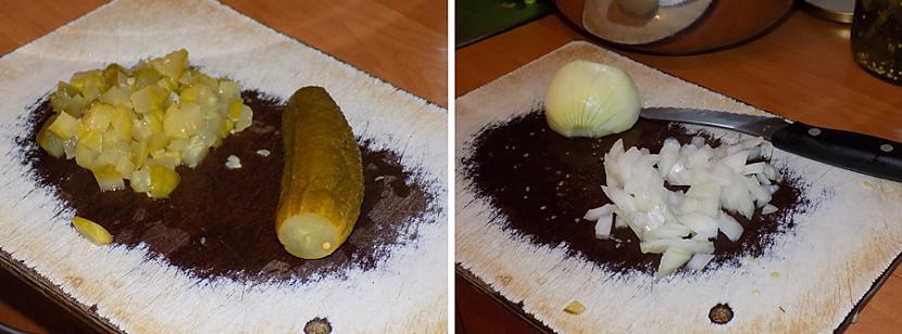 Sagriežam gurķi sīpolus Autors: HELIOFOBIJA Kaut kas līdzīgs vinegretam
