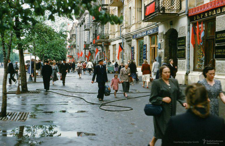 Centrālā ielanbspKijevā... Autors: 100 A Reti redzēti kadri no Staļina ēras, kurus uzņēmis ASV spiegs!