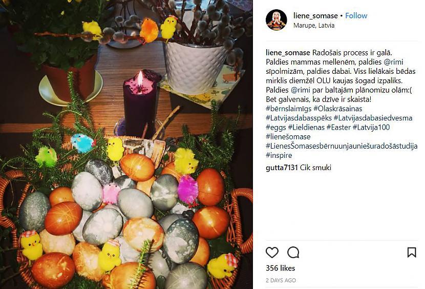 Liene scaronomase Autors: paradony Kā olas šogad krāsojušas Latvijā zināmas dāmas?