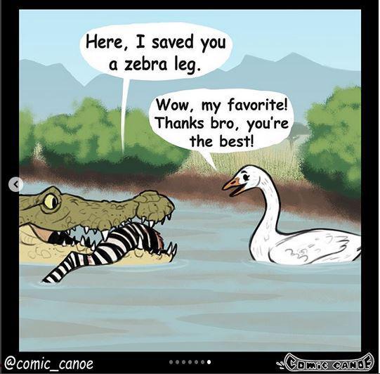 Autors: ĢenerālisHansijs Ja neglītais pīlēns tiktu ievietots krokodila ligzdā