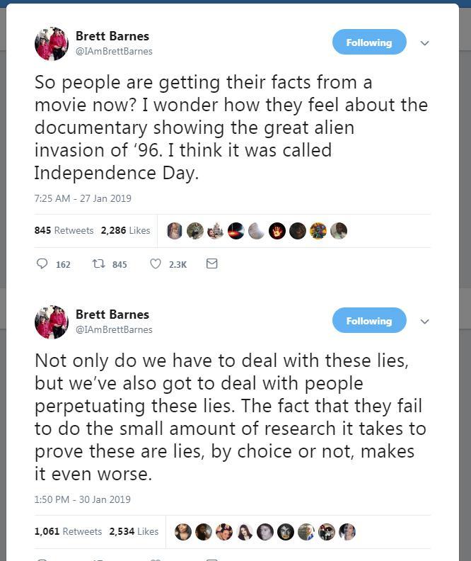 """Brets Bārns noliedz jebkādu... Autors: llvllagic777 Fakti nemelo. Cilvēki melo. Patiesība par filmu """"Leaving Neverland"""""""