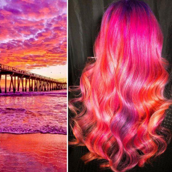 Autors: Puišelis69 Stilists Ursula Goff rada neparastu matu dizainu, ko iedvesmojis dabas skaistums