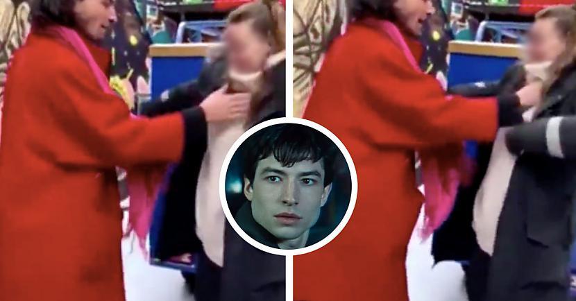 15 sekunžu garajā video ir... Autors: matilde Internetā nopludināts video, kurā redzams, kā Ezra Millers žņaudz savu fani
