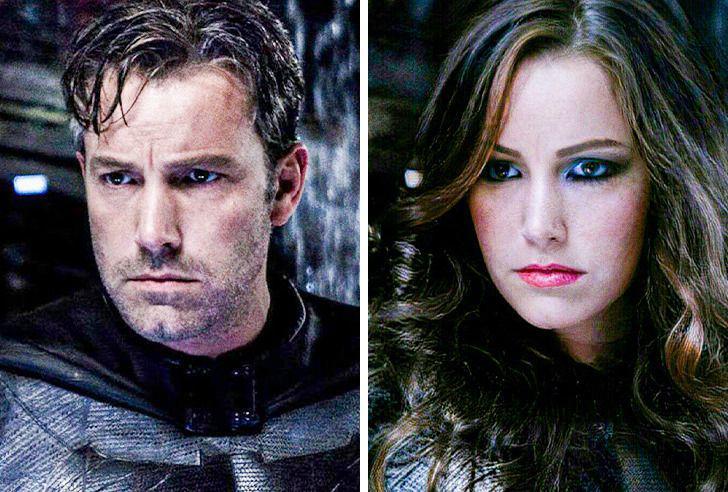 Betmens Autors: matilde Lūk, kā izskatītos slaveni supervaroņi, ja viņi būtu sievietes (18+ foto)