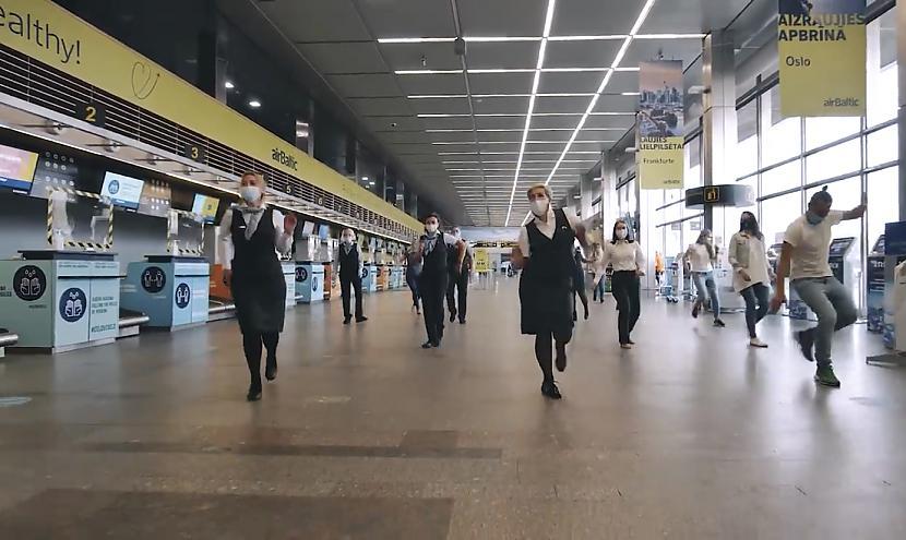 Eiropas Savienības sporta... Autors: matilde Rīgas lidostas darbinieki metas sociālo tīklu deju izaicinājumā