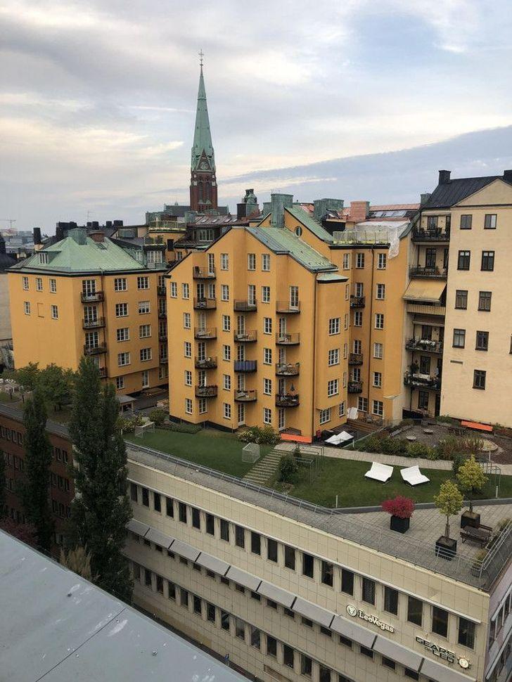 Mājas uz citu māju jumtiem Autors: Lestets 19 iemesli, kāpēc Zviedrija ir no citas pasaules
