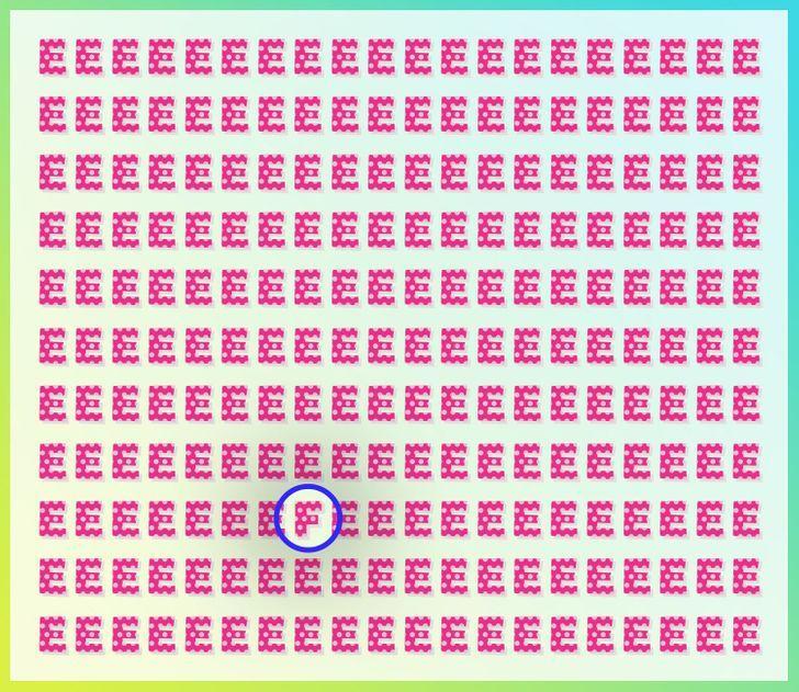 Autors: matilde Tests acīgajiem: Vari dažu sekunžu laikā atrast atšķirīgos burtus šajos attēlos?