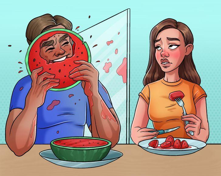 Par ēscaronanu var runāt... Autors: Lestets Pasaulē ir tikai divu veidu cilvēki un parasti tie ir precējušies