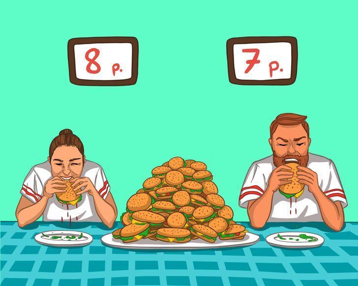 Visvairāk apēstie hamburgeri 3... Autors: Lestets 14 rekordi, ko vari pārspēt arī bez trenēšanās