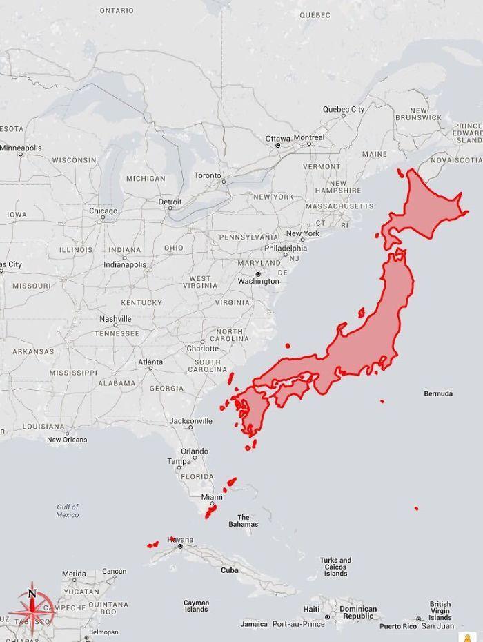 Cik liela ir Japāna Autors: Lestets 20 neparastas kartes, kas var mainīt perspektīvu