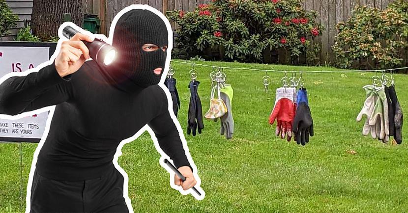 Vienu reizi saimniekiem... Autors: matilde Ģimene uzzināja, ka viņu mājā dzīvo zagle, kura zog cimdus un maskas