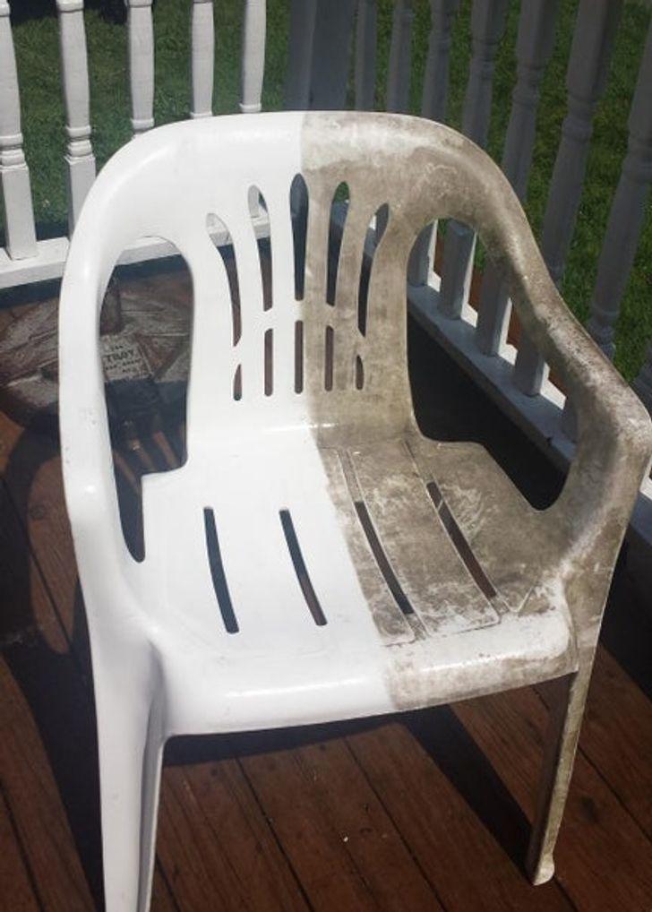 Izskatās ka scaronis krēsls... Autors: Lestets Kā tīrīšana var mainīt lietu izskatu