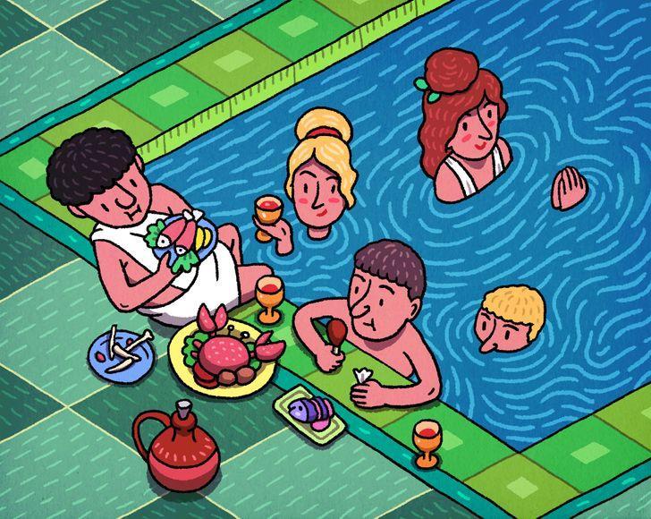 """Tās bija vietas kur paēst un... Autors: Lestets 10 fakti par senajām """"atpūtas telpām"""" jeb tualetēm un vannasistabām"""