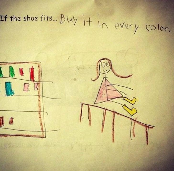 Ja kurpe derhellip nopērc to... Autors: The Diāna 20 reizes, kad bērnu izdoma mājasdarbu pildīšanā bija patiešām smieklīga