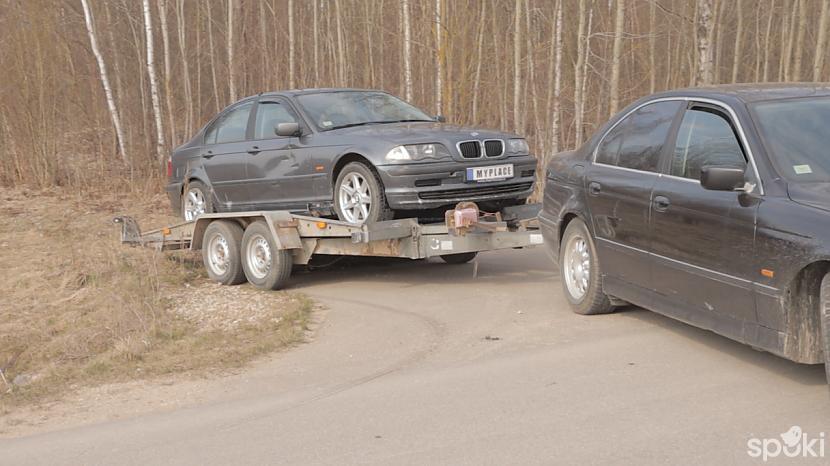 Cepējām tačku uz traļa un... Autors: MyPlace Tā nebija prātīga doma / BMW e46 aizdegās / AUTOVLOGS #11