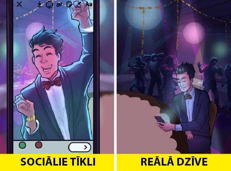 Jebkuri notikumi var tikt... Autors: Lestets 11 ilustrācijas, kas pierāda, ka sociālie tīkli ir vien ilūzija