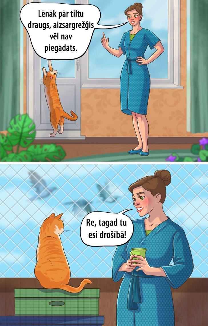 Balkons un atvērti logi ir kā... Autors: matilde 15 komiksi, kas atgādina, ka mēs esam atbildīgi par tiem, kurus pieradinām