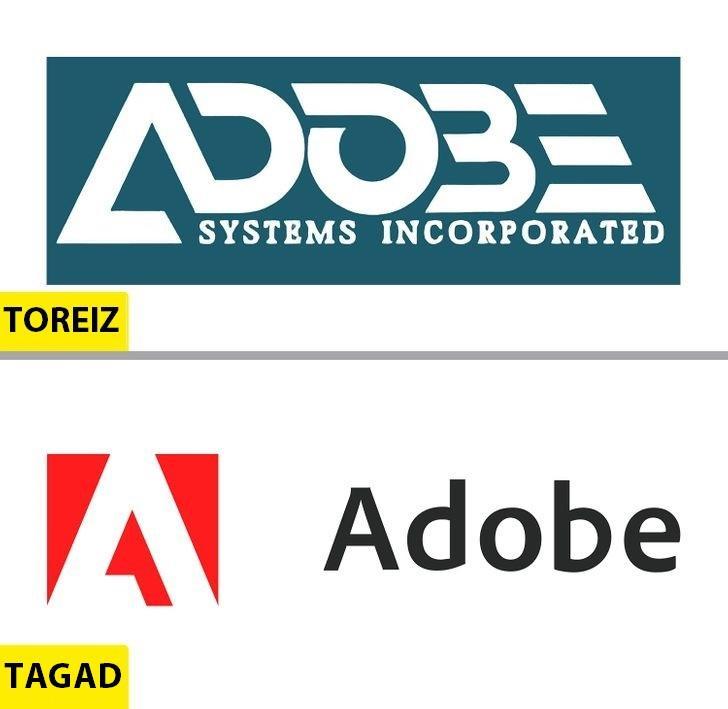 Adobe IncTagadējais logo... Autors: Lestets Kā pēdējo 50 gadu laikā ir mainījušies slavenu brendu logo?